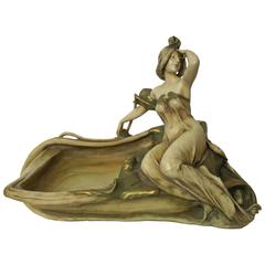 Eduard Stellmacher Teplitz Art Nouveau Centerpiece