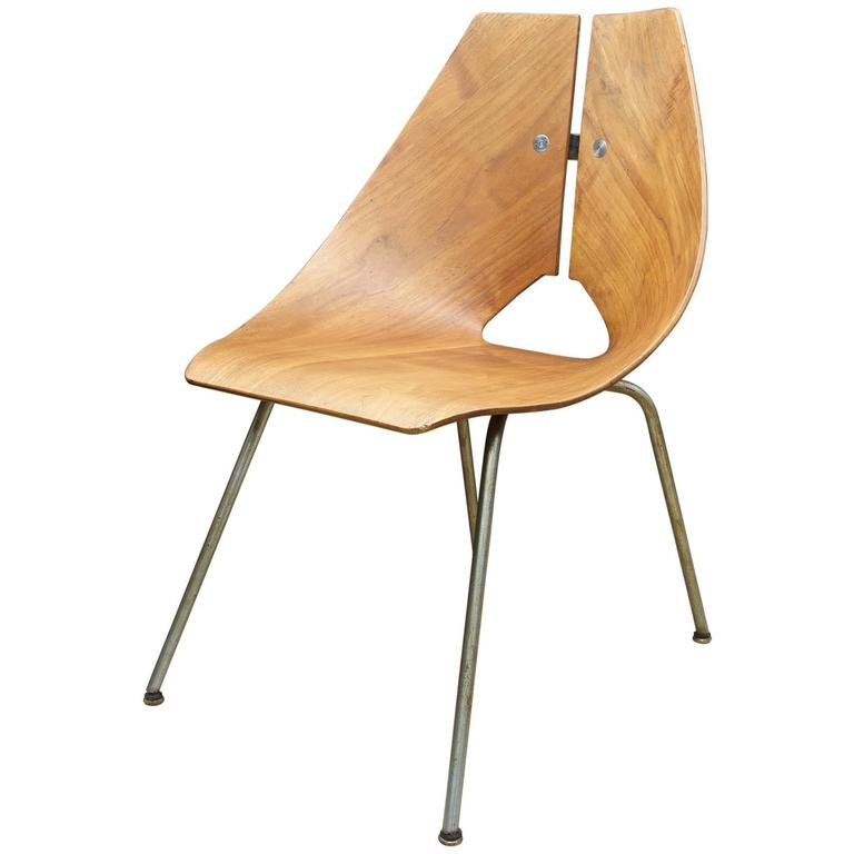 Vintage Mid-Century Bent Plwood  Chair by Ray Komai JG Furniture Inc.