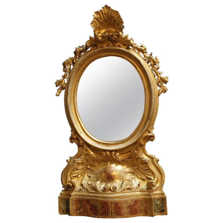 Exceptional 18th Century Italian Altar Frame Mirror For Sale