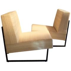 "Elegant Pair of Easy Chairs by Pierre Guariche ""Courchevel Model,"" 1963"