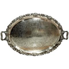 Large Antique English Tray