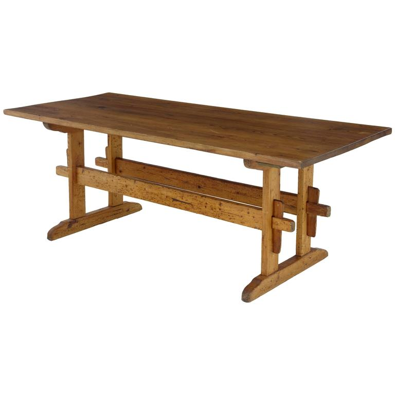 Superb 19th Century Swedish Pine Refectory Table For Sale