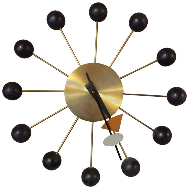Vintage george nelson and associates for howard miller for Nelson wall clock