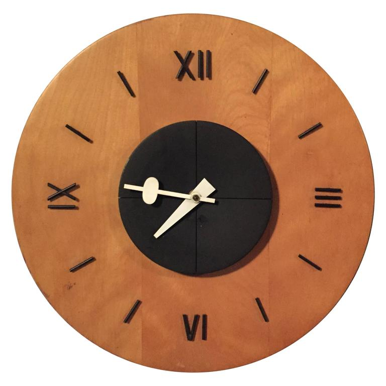 George nelson and associates birchwood wall clock for for Nelson wall clock