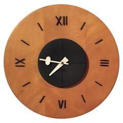 George Nelson and Associates Birchwood Wall Clock for Howard Miller