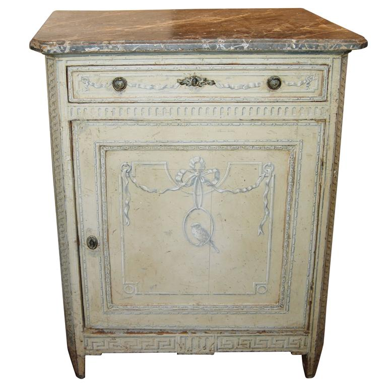 19th Century Painted Confiture Cabinet For Sale