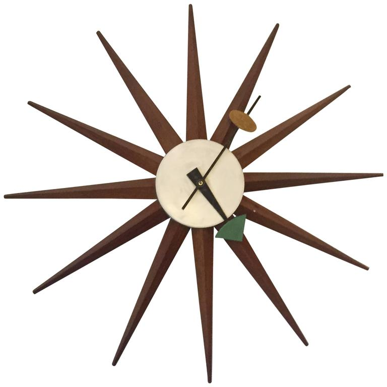 George nelson and associates spike clock for howard for Nelson wall clock