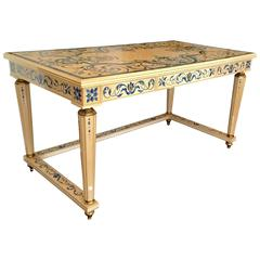 "Italian Writing Table Desk in ""French Ivory"""