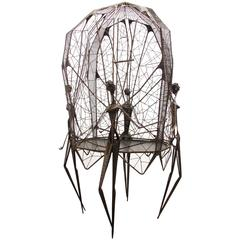 Huge Spider Web Sculptural Birdcage