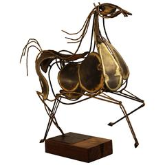 Mid-Century Curtis Jere Metal Horse Sculpture