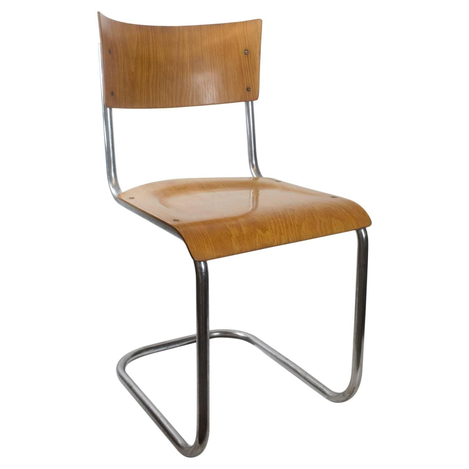 20th century bauhaus tubular chair by mart stam for sale at 1stdibs. Black Bedroom Furniture Sets. Home Design Ideas