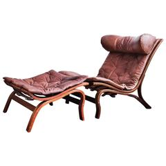 """Arne Norell """"Skandi"""" Lounge Chair with Ottoman"""