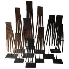 Set of 11 Hair Combs, Timor, Indonesia, 20th Century