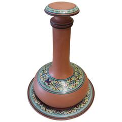 Decanter and Underplate by Christopher Dresser for Watacombe Terracotta Co