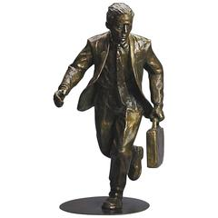 """Marathon Man"" Bronze Business Sculpture by Jim Rennert"
