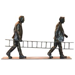 """Next Level"" Bronze Business Sculpture by Jim Rennert"