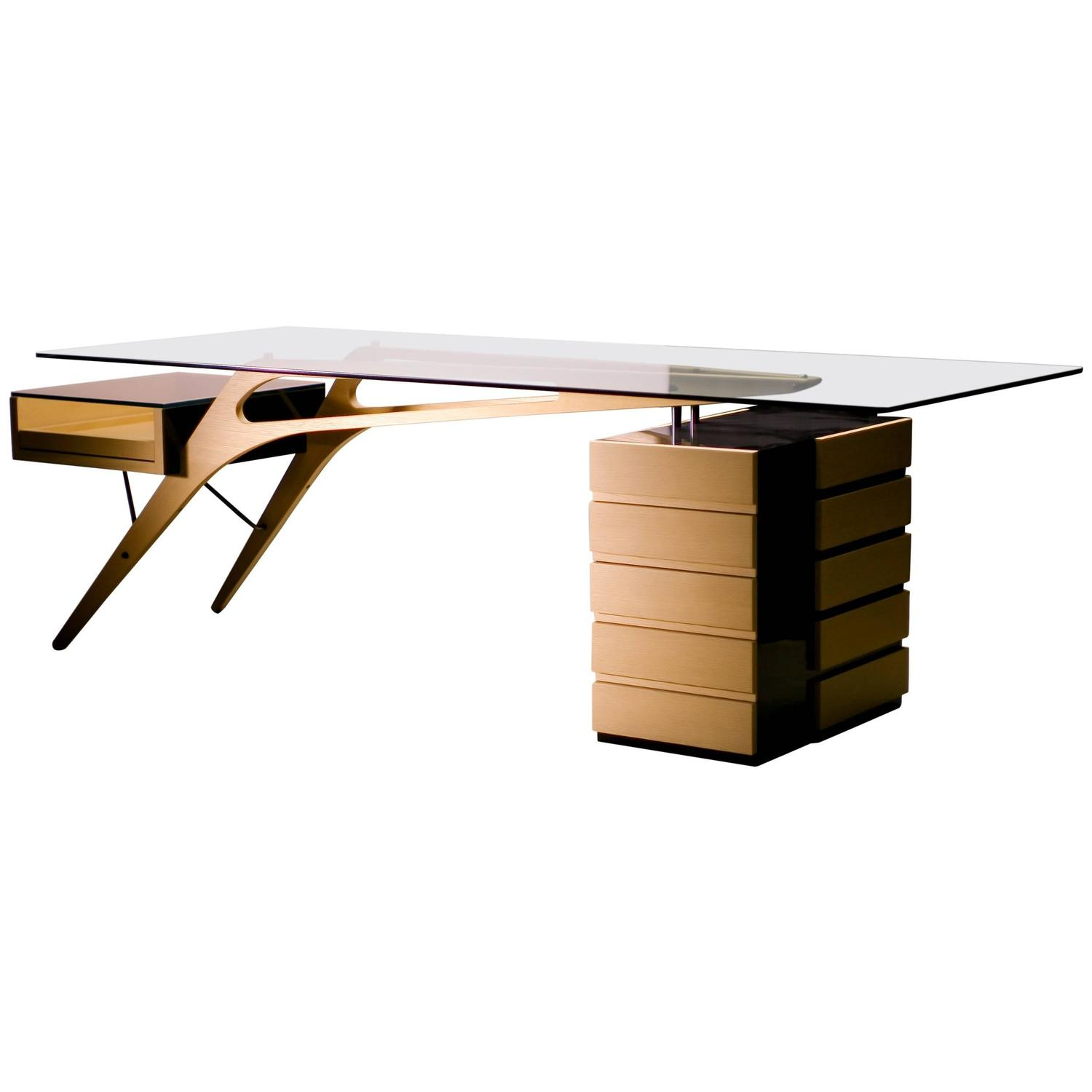 cavour desk by zanotta homage to carlo mollino for sale at 1stdibs. Black Bedroom Furniture Sets. Home Design Ideas