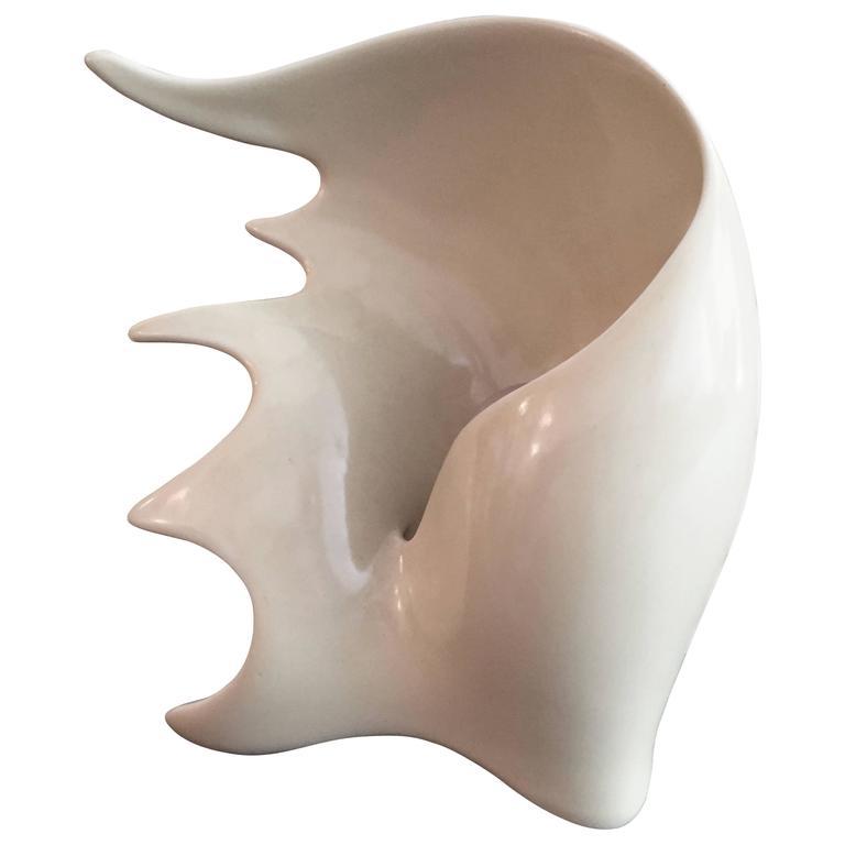 Antonia Campi Conchiglia Pottery, Italian 1950s Lamp For Sale