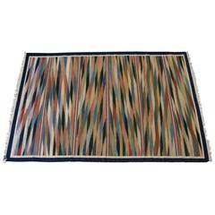 Dhurrie Area Rug with Multicolor Motif