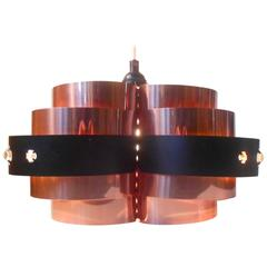 Danish Modern Copper Sculptural Chandelier by Verner Schou for Coronell, Denmark
