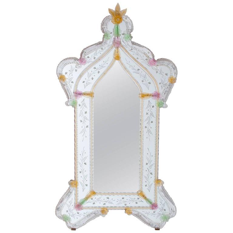 Italian Murano Glass Mirror, circa 1990s