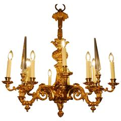 18th Century Ormolu Louis XV Style Chandelier