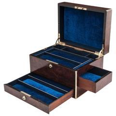 Antique Burr Walnut Jewelry Box