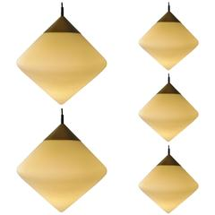 Set of Five Individually Hung Pendant Lights by RAAK, Netherlands, 1970s