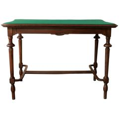 Vintage Victorian Style Walnut Writing Table Desk Game Table