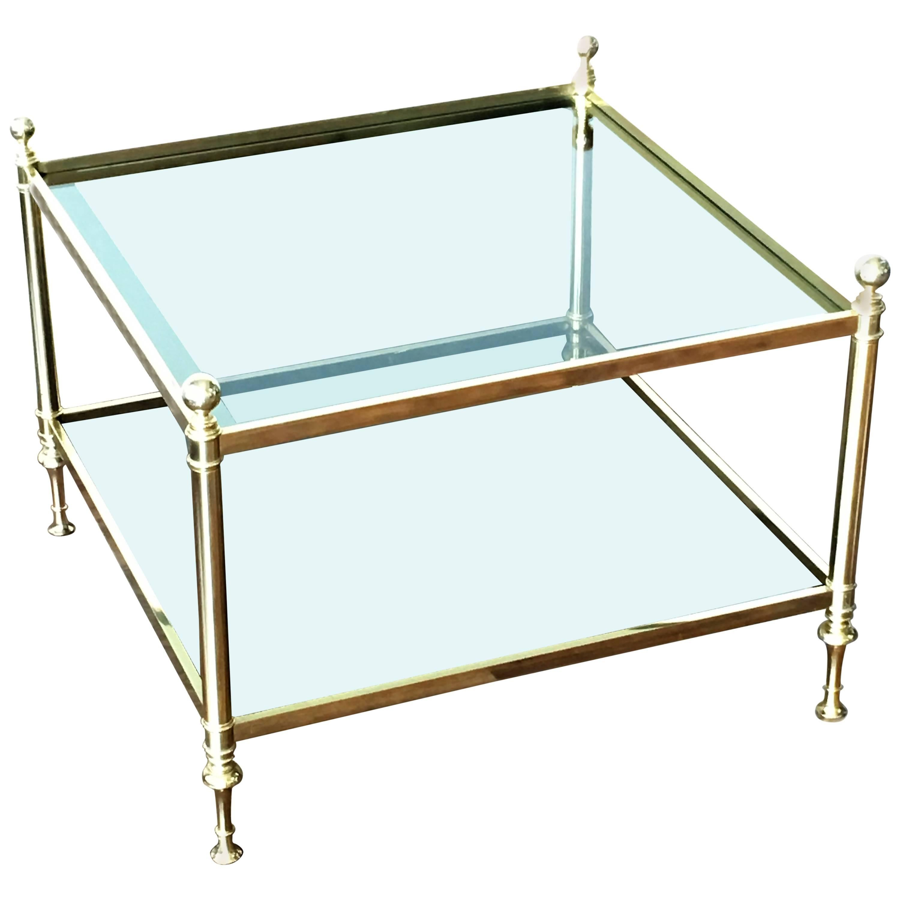 Vintage Maison Bagues Brass Coffee Table
