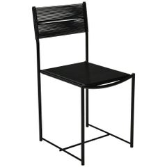Spaghetti Side Chair in Black by Giandomenico Belotti for Alias