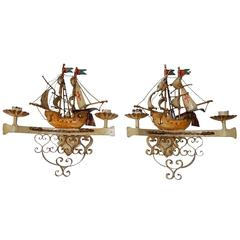 Italian Nautical Ship Boat Spanish Galleon Sconces