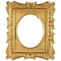 French Gilt Bronze Frame Decorated with Shells