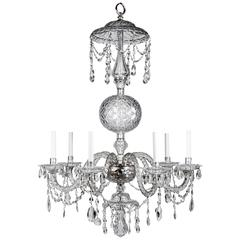Georgian Silver and Cut-Glass Chandelier, Circa 1760