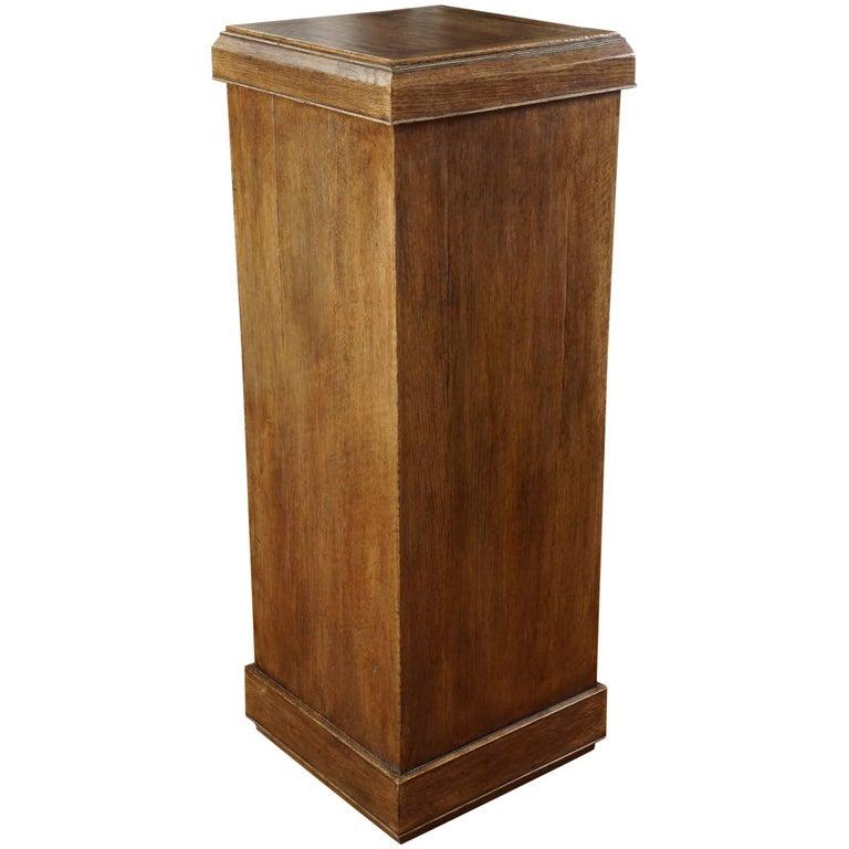 Custom Oak Pedestal For Sale