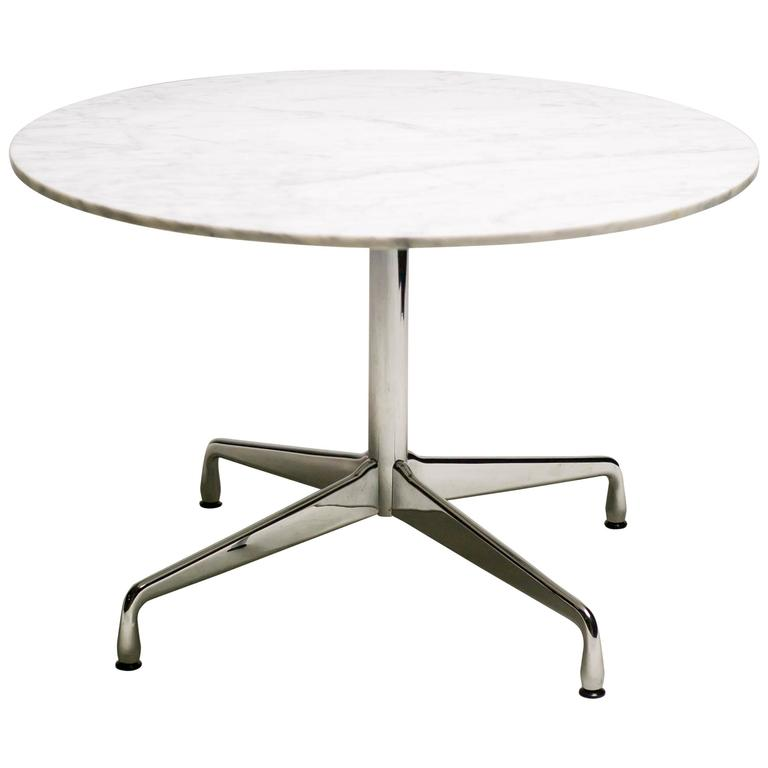 charles and ray eames carrara marble segmented base dining