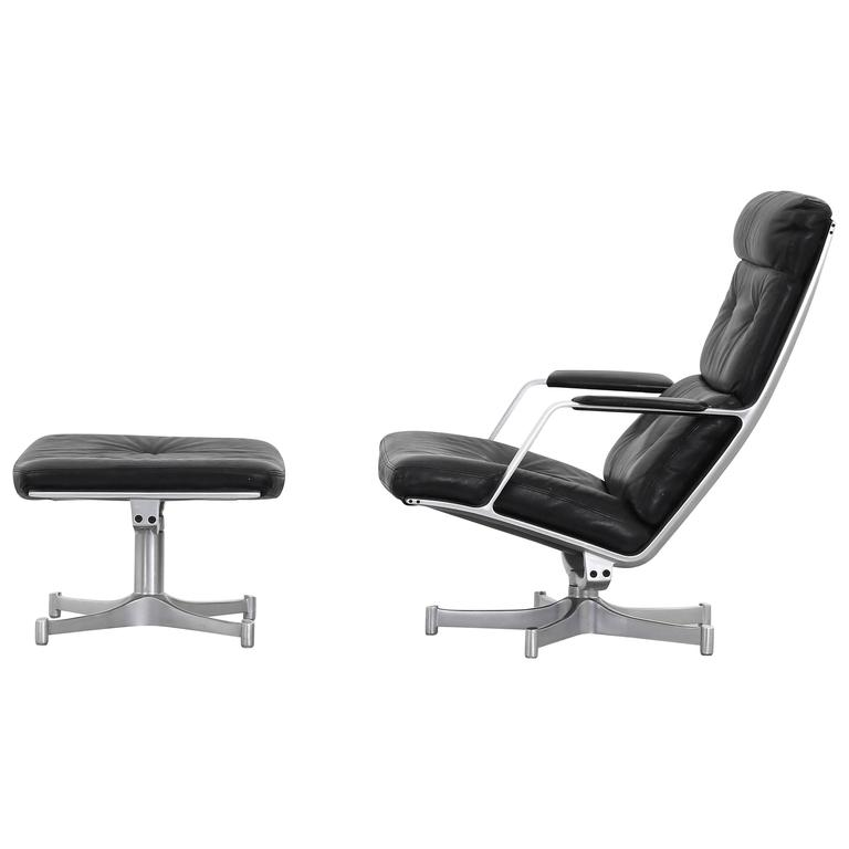 Lounge Chair with Ottoman by Fabricius & Kastholm for Kill International FK 85