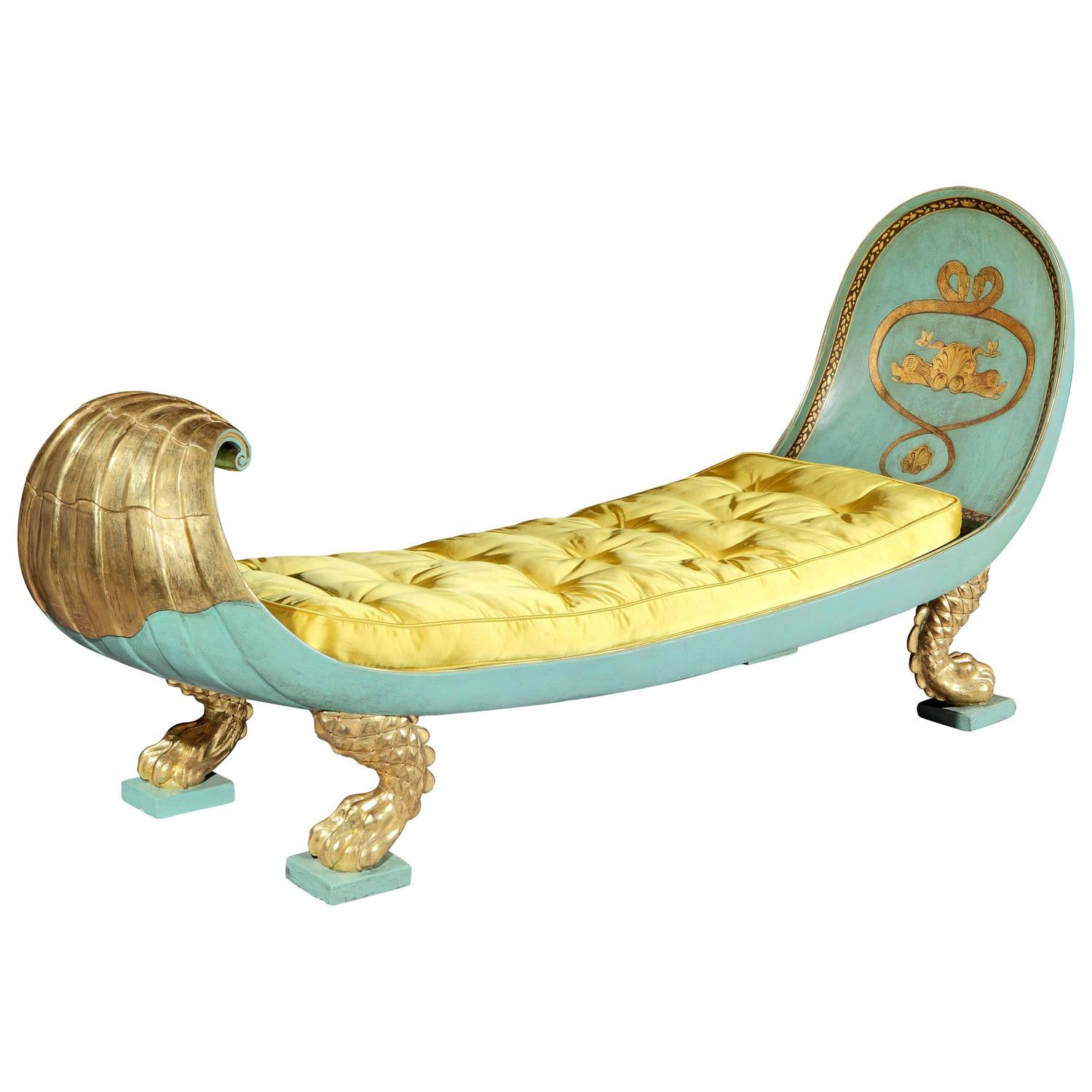 Regency daybed chaise longue english regency circa 1810 for Chaise longue daybed