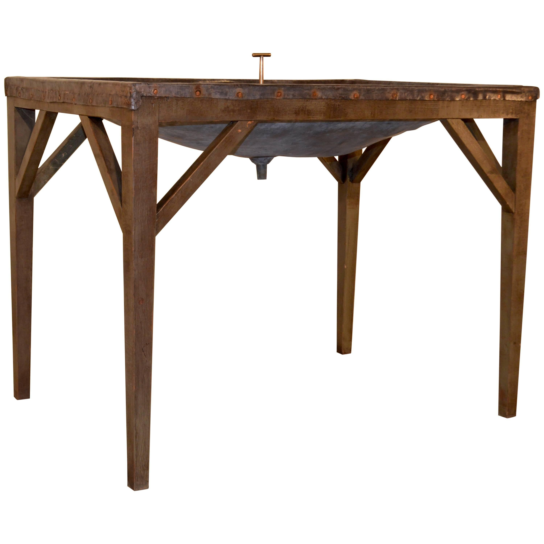 19th Century English Dairy Skimming Table