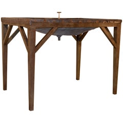 19th Century English Dairy Skimming Table