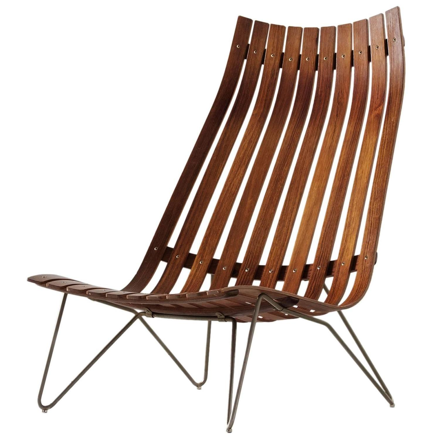 Hans Brattrud 39 Scandia 39 Lounge Chair In Rosewood At 1stdibs