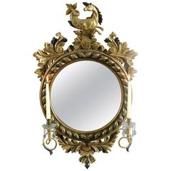 19th Century Regency Period Convex Mirror