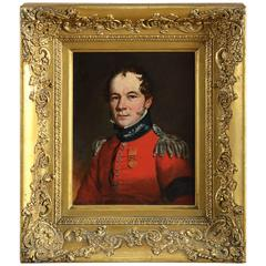 Portrait of an Officer Wearing the Waterloo Medal, Circle of Richard Livesay