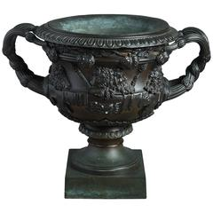 19th Century Regency Period Bronze Reduction of the Warwick Vase