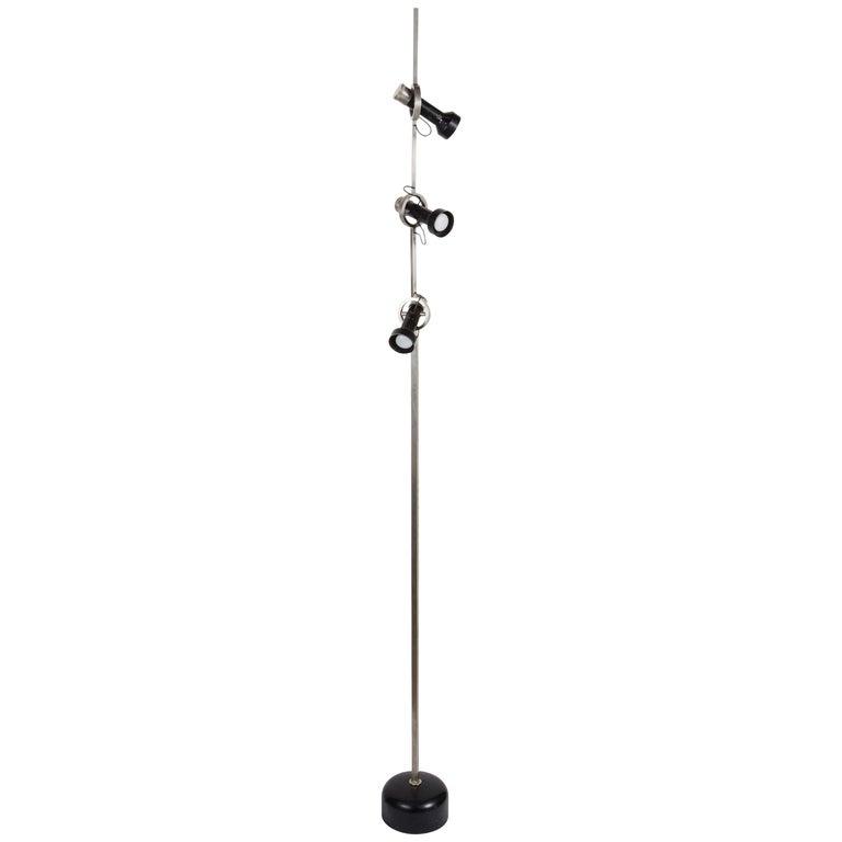 Rare Model 1076 Trittico Floor Lamp by Angelo Lelli for Arredoluce  For Sale