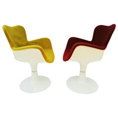 "Rare Christian Adam Armchairs ""Trèfle"" for Airborne, 1960s"