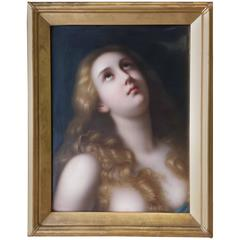 KPM Porcelain Portrait Plaque of Mary Magdalene, Berlin, Late 19th Century
