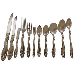 Decor by Gorham Sterling Silver Flatware Set Service Dinner Size 141 Pieces Huge