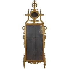 Italian, Tuscany, Late 18th Century Carved Giltwood Mirror