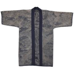 19th Century Japanese Hand-Painted Fireman's Coat